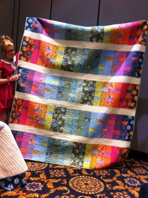 From Tula Pink at quilt market.  Wow, just stunning.