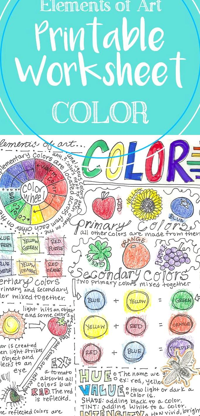 This Elements Of Art Printable Worksheet Covers The Element Of Art Color The Front Includes Inform Elements Of Art Color Elements Of Art Formal Elements Of Art [ 1418 x 683 Pixel ]