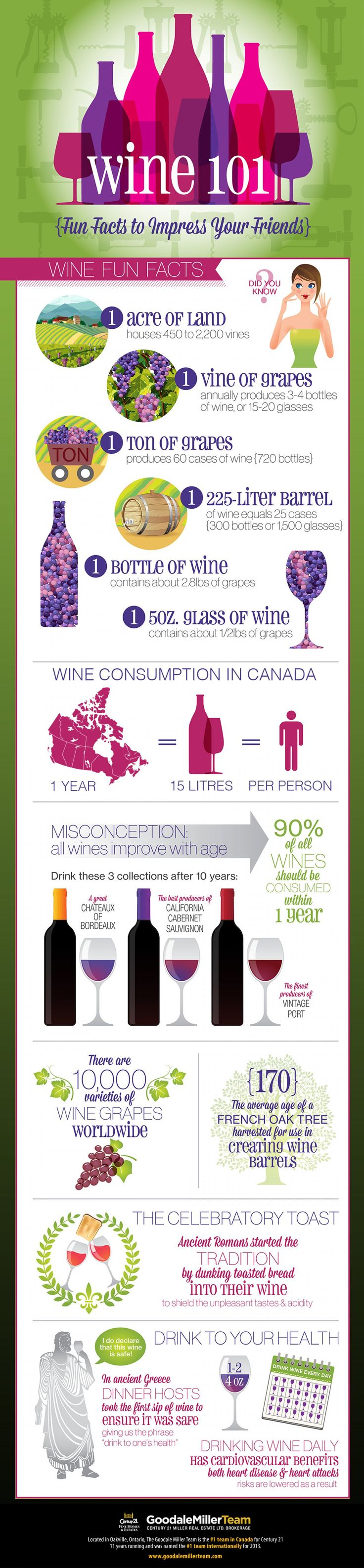 Fun Facts About Wine! #infographic
