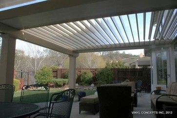 Motorized Patio Cover | Adjustable Louver (Motorized) Patio Covers traditional-patio