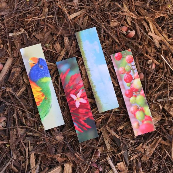 Miniature Nature bookmarks gifts for nook lovers by giftdesigns