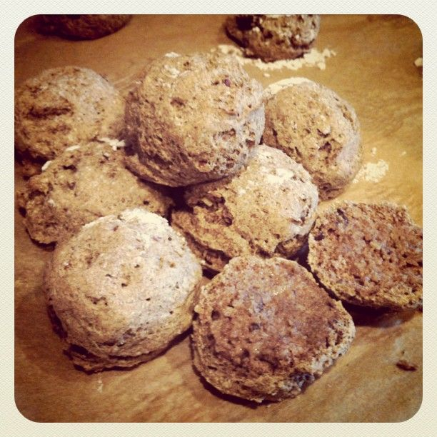 """Buckwheat """"Buttermilk"""" Pecan Biscuits  My own recipe, based loosely on Living Without & Bob's Red Mill biscuit recipes. Sprinkled with raw turbinado sugar, they are great for short cake.   Another cup of tea, a biscuit & jam for me!"""