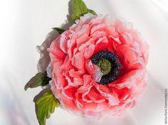 "Создаем мак ""Strawberry Dessert"" из шелка - Ярмарка Мастеров - ручная работа, handmade"