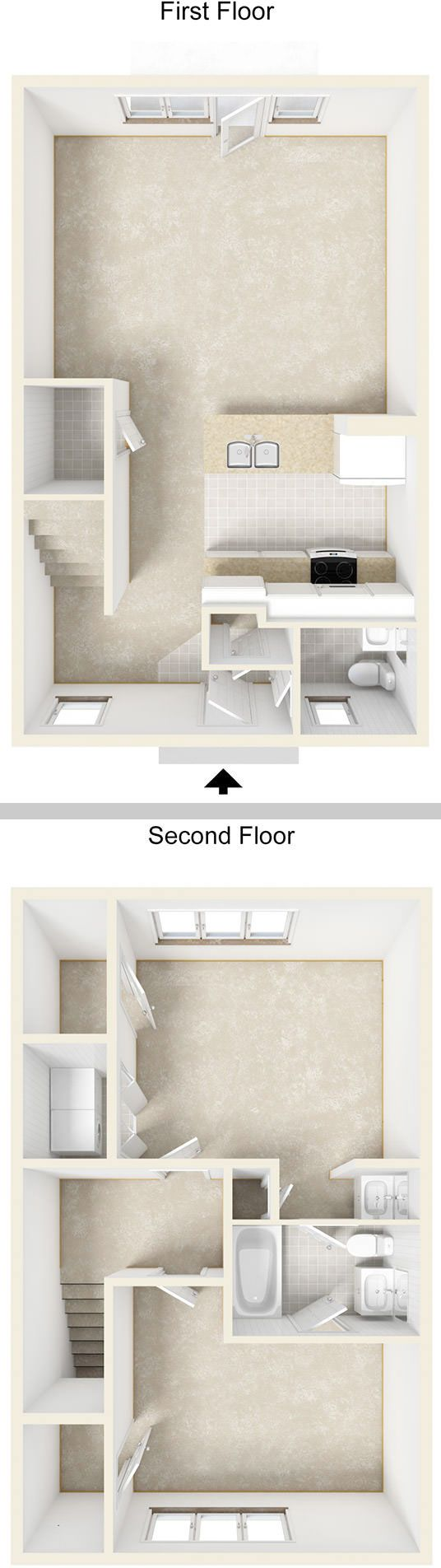 1000 square foot 2 story townhouse floor plan for Townhouse flooring ideas