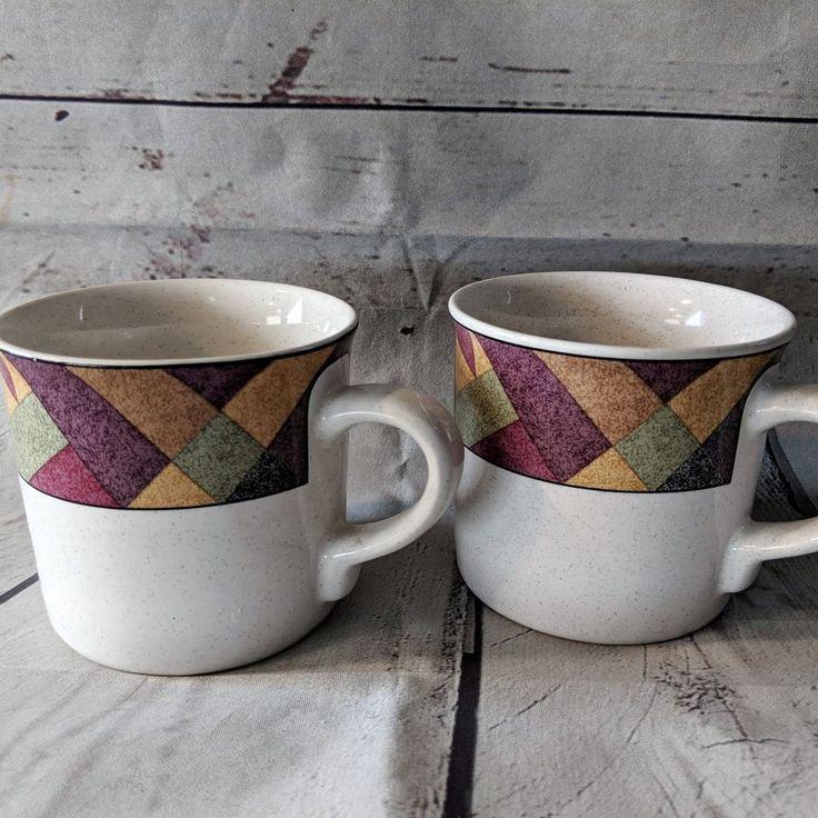2 Studio Nova Palm Desert Coffee Mugs Cups Southwestern 12 Ounce Y2216 #StudioNova