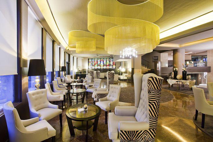 Up Lobby Area. Hotel Tres Reyes. Pamplona. Spain.