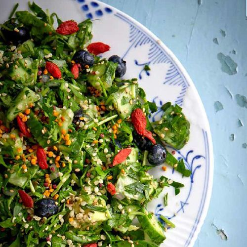 Grøn Super Food Salat - GreenGoddessGuide