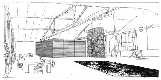 We look back at the drawing of the apartment Tony Fretton designed for Depeche Mode producer Daniel Miller, in the week we review the architect's Tower Wharf Café. Date: 1989; Architect: Tony Fretton; Project: Apartment for Daniel Miller