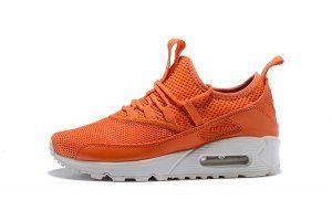 reputable site 181fa 0dc61 Mens Womens Nike Air Max 90 Ez Orange White Casual Shoes