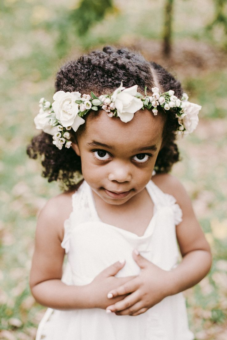 sweet flower crown of wax flower and white spray roses for the sweet flower…