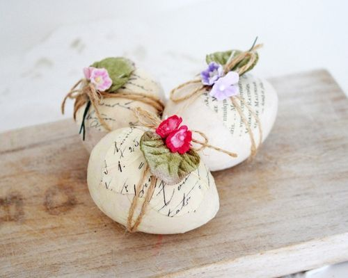 An easter egg with a note tied to it would be a cute idea for a surprise.