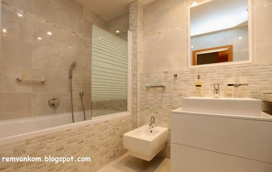 Дизайн проект ванной комнаты в новой квартире с оригинальной идеей корзины для белья