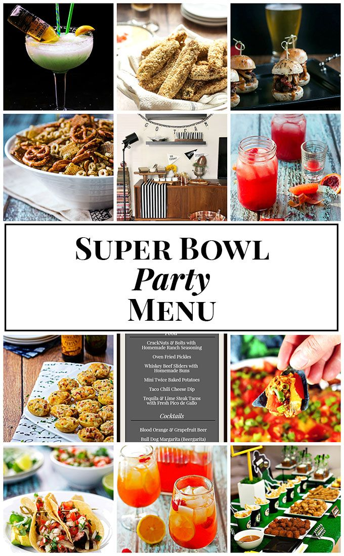 Our favorite food, cocktail and decorating ideas to help you plan the perfect spread for your Super Bowl party menu.