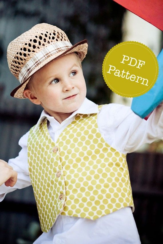 PDF Sewing Pattern for Little Lads' Reversible Vest, Waistcoat, Make and Sell, DIY. Sewing Patterns by Angel Lea Designs