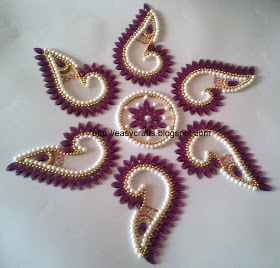 Kundan Rangoli - purple color
