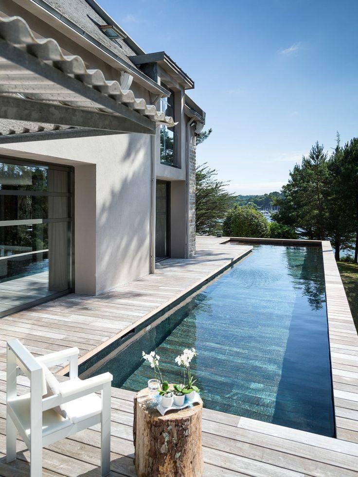 Le fond mobile par lesprit piscine   15 x 2,8 m revêtement gris ...