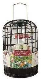 Harrisons Die Cast Protector seed Feeder 20cm  The perfect solution for preventing the average grey squirrel and larger birds from damaging feeders and stealing food.