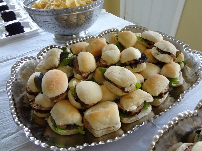 Hors d'oeuvres - Grilled Pork Tenderloin Sliders Catering by Debbi Covington - Beaufort, SC www.cateringbydebbicovington.com 843-525-0350