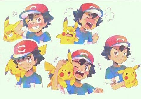 Ash and Pikachu ♡