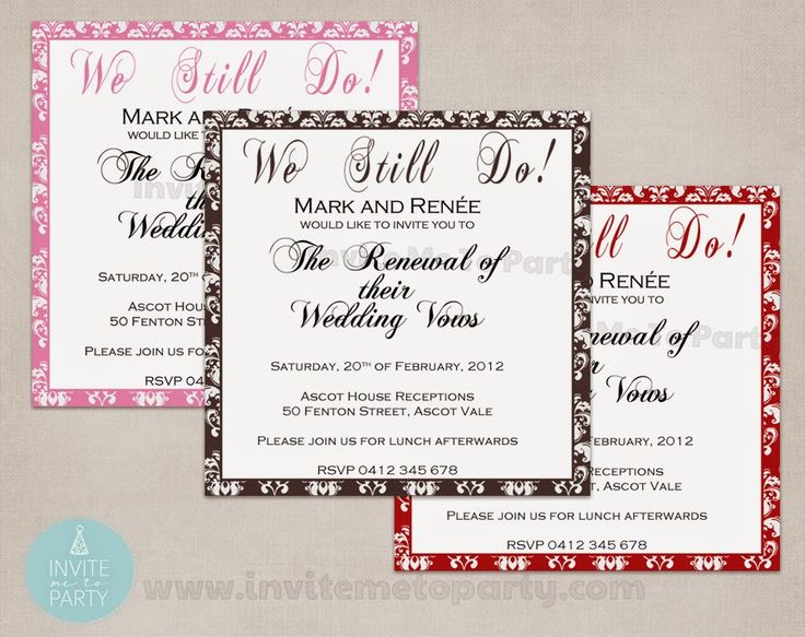 Vow Renewal Invitation, wedding invitation, engagement invitation, 21st invitation Invite Me To Party: Vow Renewal Invitation