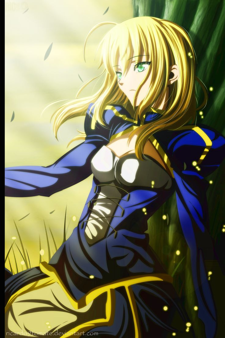 Ninja Fantasy Girl Wallpaper Fate Zero Arturia Pendragon Sunset By Ric9duran