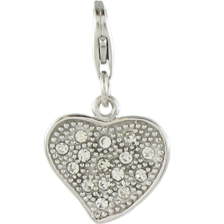 Oscaro Charms 925 Sterling Silver Heart Clip on Charm for Thomas Sabo style bracelets and necklaces *** Want additional info? Click on the image. #Charms