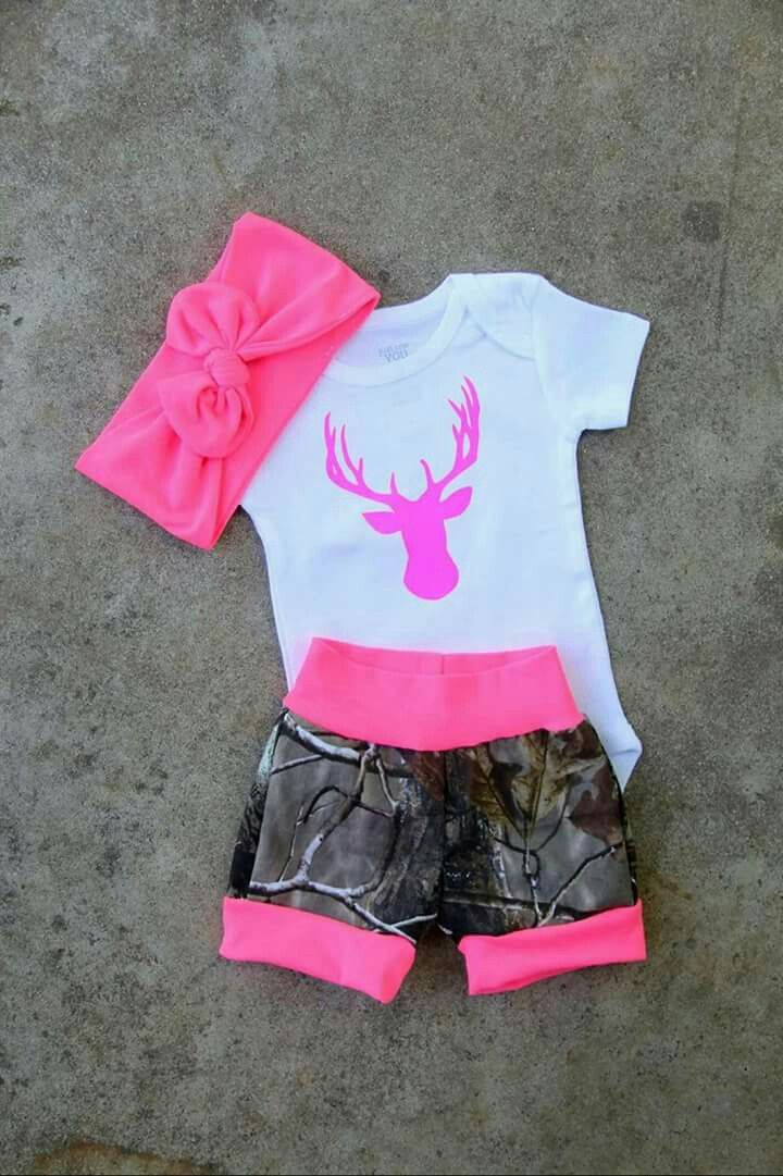Cute camo baby girl outfit!