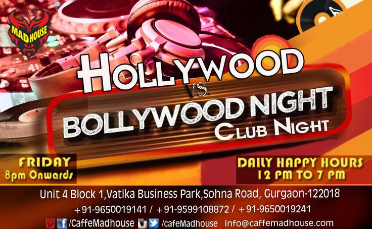 Experience both the worlds merging together as Caffe Mad House presents one of the biggest night in town Bollywood vs Hollywood with some of our desi bites to start with and drinks to get you tapping on the floor. #BollywoodVsHollywood #PartyAllNight #DesiBites