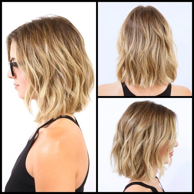 Lived in the summer length and summer color … #BobHairstyles Lived in the summer length and summer color ☀️ Cut / Style: Donovan Mills Color: Cheri …
