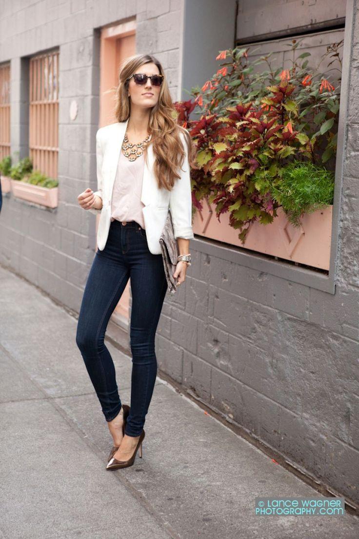 Best 25+ White blazer women ideas on Pinterest | White blazer outfits Summer blazer and Outfits ...