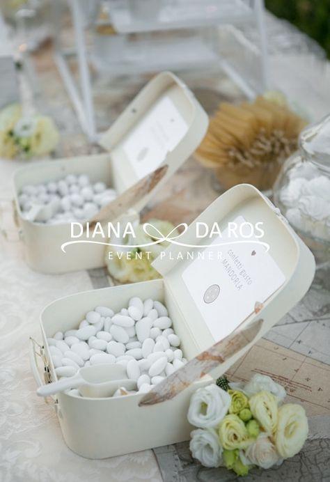 Travel themed wedding confettata