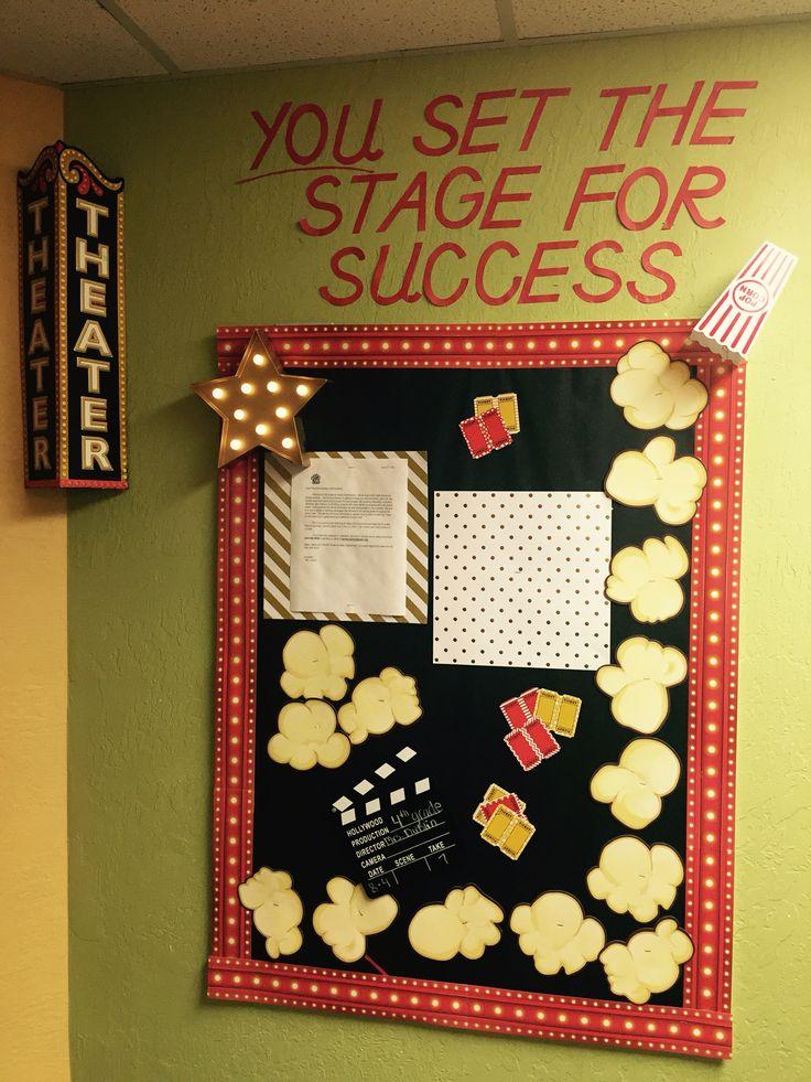 Theatre theme for classroom entrance bulletin board.