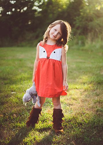 The Hair Bow Company - Orange Fox Jumper Dress, $14.99…