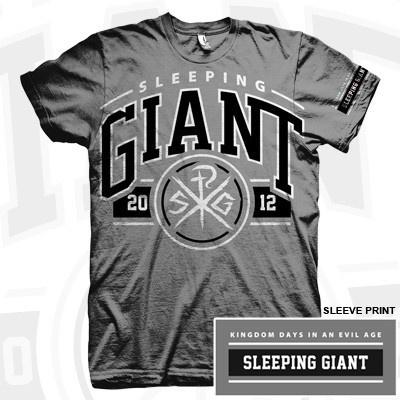 Sleeping Giant - Kingdom Days In An Evil Age Arch Shirt (Grey) | $12.99