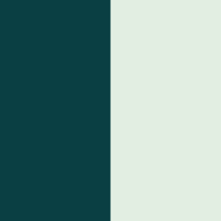 color and color 21034 - #0a3f44 and #e1eee1