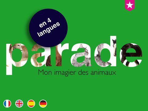 PARADE mon imagier des animaux par e-Toiles editions