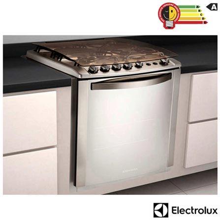Fogão de Embutir Electrolux 04 Bocas Celebrate Inox – 56TXE -Timer e Grill. Confira na Fast Shop.