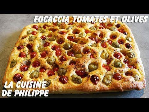 (261) Focaccia tomates et olives - YouTube