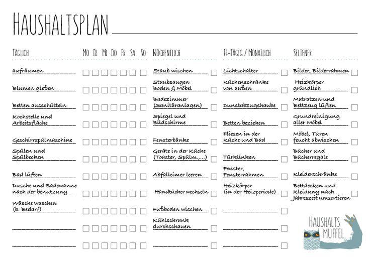 die 25 besten ideen zu wochenplan auf pinterest putz hacks reinigung charts und hausarbeit. Black Bedroom Furniture Sets. Home Design Ideas