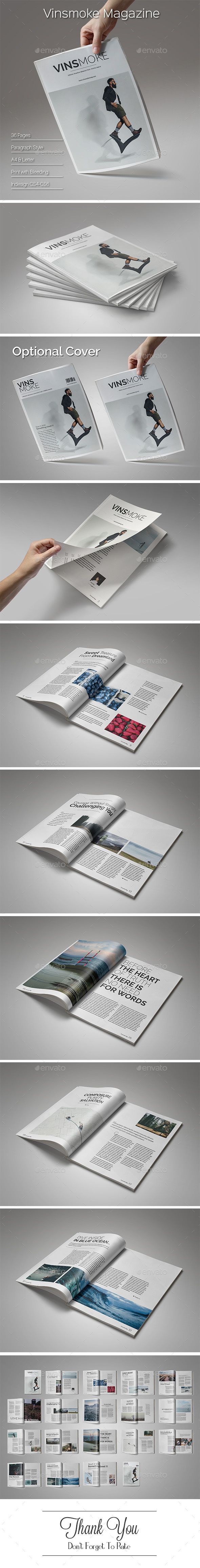 Vinsmoke Magazine  — InDesign Template #297x210 #social • Download ➝ https://graphicriver.net/item/vinsmoke-magazine/18038625?ref=pxcr