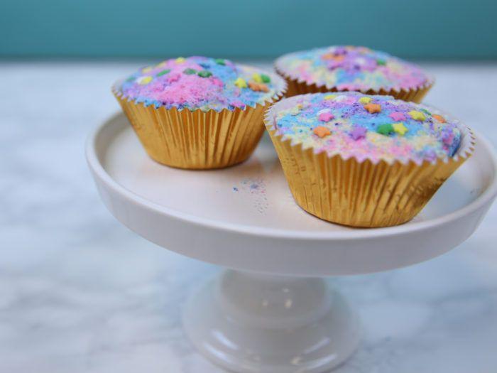 These DIY cupcake bath bombs are the stuff of unicorn dreams