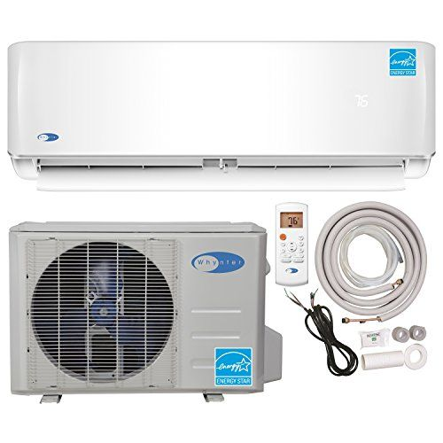 Whynter Energy Star Mini Split Inverter Ductless Air Conditioner System & Heat Pump Full Set Seer 22 12000 Btu 115V