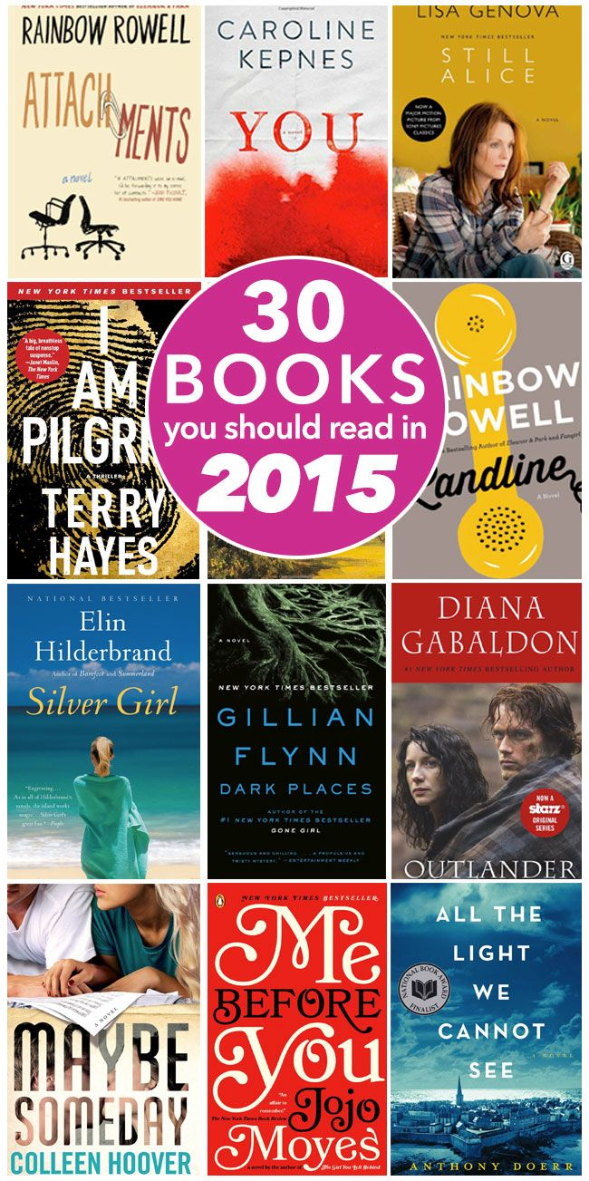 30 Books You Should Read in 2015. I have read 10 of these. How many have you read?