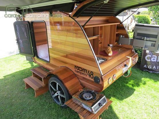 All Wood Teardrop Camper - Camping ideas for men