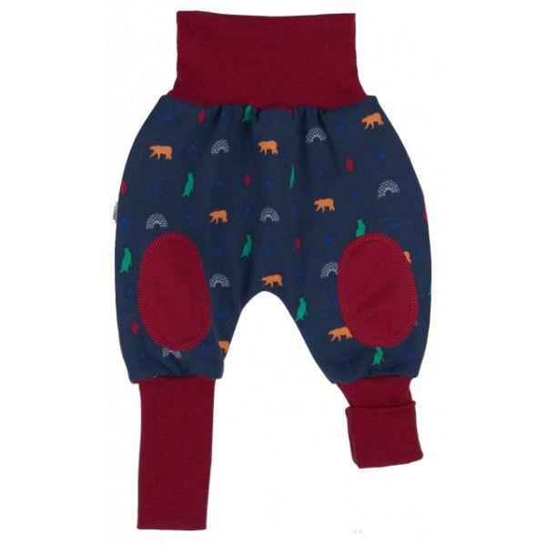 Pantaloni in cotone bio - stampa polare bacca