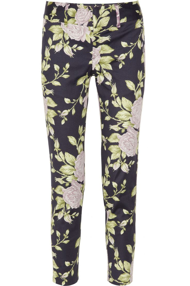Rag & bonevintage floral-print cotton-blend pants
