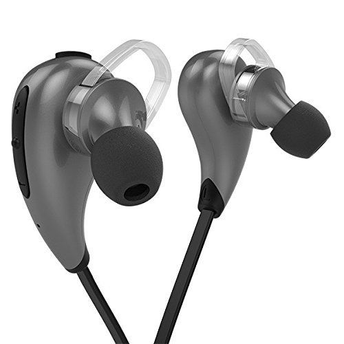 New Smart Moderns SZR Tech Super Lightweight Premium Sports Bluetooth 4.1 Wireless Earphones Noise Cancelling Sweat-Proof Handsfree Calling - Secured Fit Adjustable- Extended Warranty (Black) by Roman Technology, http://www.amazon.com/dp/B01HECVPUK/ref=cm_sw_r_pi_s_dp_EBhDxbYA7EDNF