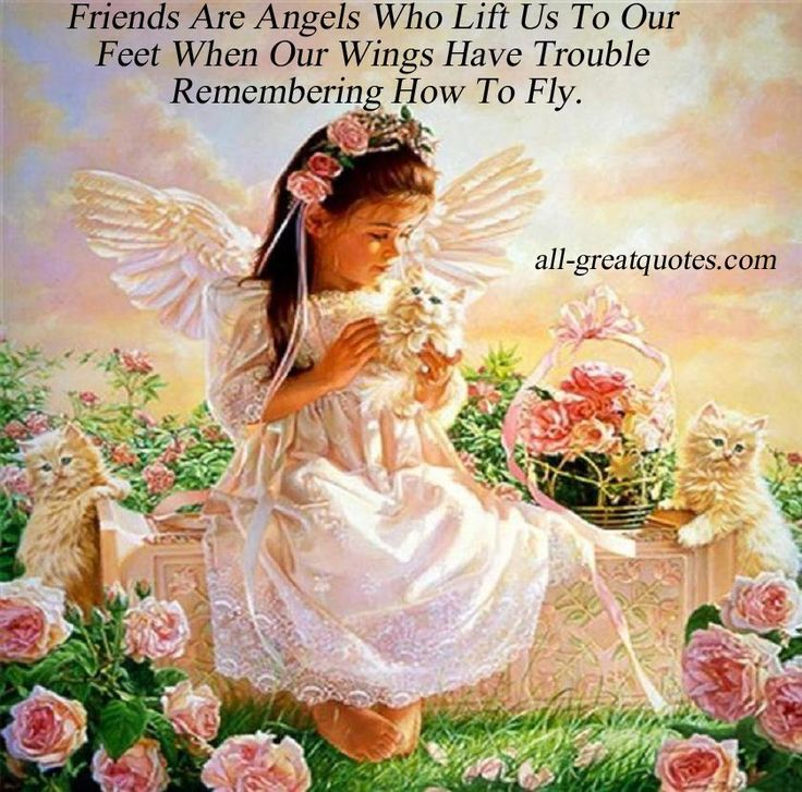 Happy Birthday to a Special Friend Angels | Friends Are Angels Who Lift Us To Our Feet -- Picture Quotes