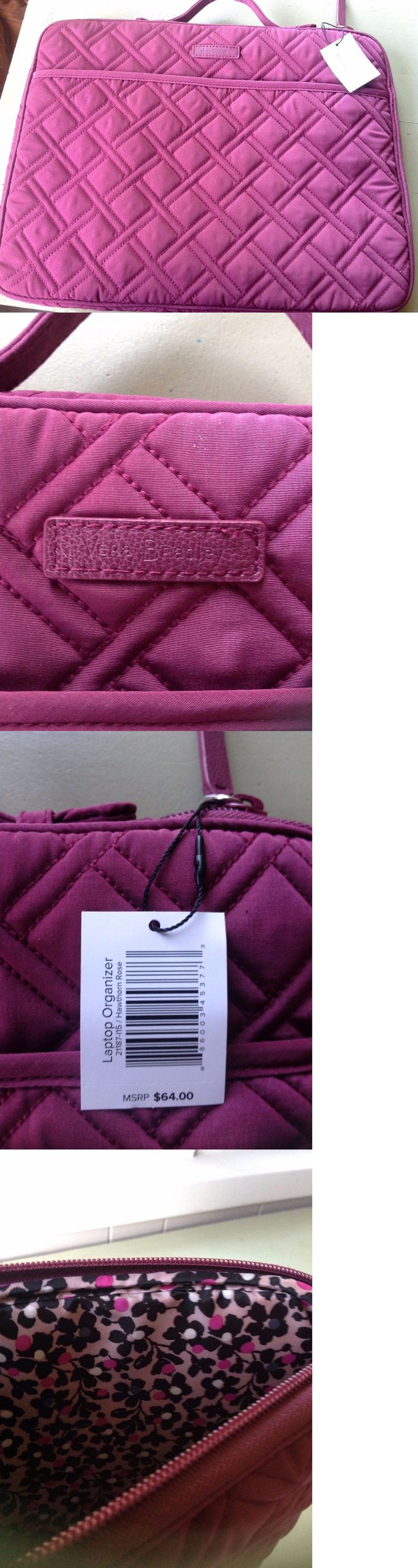 Briefcases and Laptop Bags 169293: Nwt Vera Bradley Laptop Organizer In Hawthorne Rose Microfiber -> BUY IT NOW ONLY: $45 on eBay!