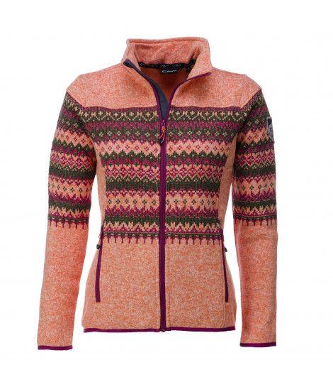 Campagnolo, ski-vest dames, oranje orange print